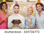 portrait of smiling business...   Shutterstock . vector #324736772