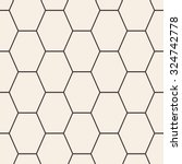 hex lines grid texture.... | Shutterstock .eps vector #324742778