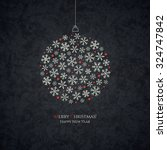 christmas and new year. vector... | Shutterstock .eps vector #324747842