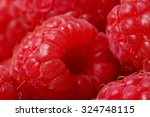 background with raspberry  a... | Shutterstock . vector #324748115
