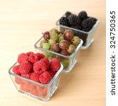 raspberry  blackberry and... | Shutterstock . vector #324750365