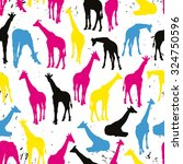 vector seamless pattern with... | Shutterstock .eps vector #324750596