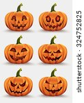 pumpkins for halloween set | Shutterstock .eps vector #324752825