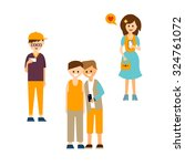 set of modern young men and...   Shutterstock .eps vector #324761072