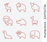 wild animal icons  thin line... | Shutterstock .eps vector #324761726