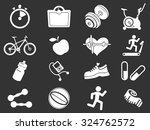 fitness icons set for web sites ... | Shutterstock .eps vector #324762572