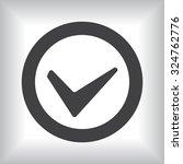 tick icon  vector illustration. ... | Shutterstock .eps vector #324762776