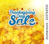 thanksgiving day sale headline... | Shutterstock .eps vector #324763532