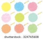crayon collection vector  | Shutterstock .eps vector #324765608