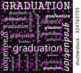 graduation design with pink and ... | Shutterstock . vector #324765755