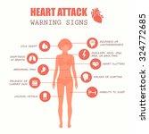 heart attack  woman disease... | Shutterstock .eps vector #324772685