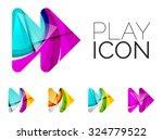 set of abstract next play arrow ...   Shutterstock . vector #324779522