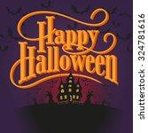 happy halloween vector... | Shutterstock .eps vector #324781616