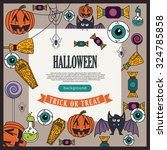 set of vintage happy halloween... | Shutterstock .eps vector #324785858
