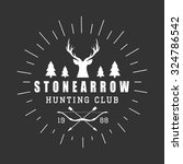 hunting logo in vintage style.... | Shutterstock . vector #324786542