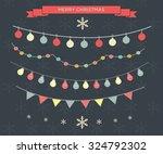 2016 christmas season hand... | Shutterstock .eps vector #324792302