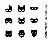 festive carnival mask icons.... | Shutterstock .eps vector #324808352