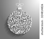 holidays greeting card with... | Shutterstock .eps vector #324814826
