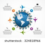 abstract global airplane... | Shutterstock .eps vector #324818966