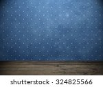 blue wall and wooden floor.... | Shutterstock . vector #324825566
