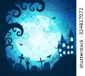 halloween poster and card.... | Shutterstock .eps vector #324827072