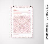 a4   a3 format poster design... | Shutterstock .eps vector #324829112