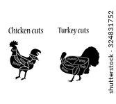 vector illustration chicken and ... | Shutterstock .eps vector #324831752