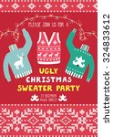 vector invitation template with ... | Shutterstock .eps vector #324833612