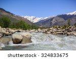 Rapid Mountain River Beas ...