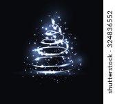 vector abstract dark background.... | Shutterstock .eps vector #324836552