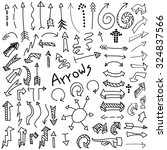 vector set of hand drawn black... | Shutterstock .eps vector #324837566