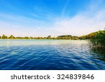 picturesque forest and the river | Shutterstock . vector #324839846