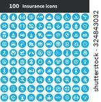 insurance 100 icons universal... | Shutterstock .eps vector #324843032
