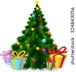 christmas tree isolated  ... | Shutterstock .eps vector #324843056