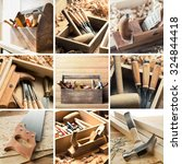 tools for woodwork  carpentry... | Shutterstock . vector #324844418