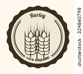 barley  concept and wheat...   Shutterstock .eps vector #324860798
