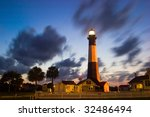 Tybee Lighthouse At A Cloudy...