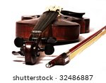 Master Violin With Bow Isolate...
