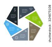 eps10 vector hexagonal... | Shutterstock .eps vector #324875108