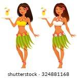 beautiful hawaiian waitress...