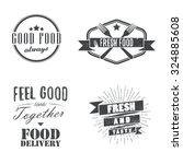 vintage food related labels ... | Shutterstock .eps vector #324885608