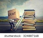 student loan debt concept....   Shutterstock . vector #324887168