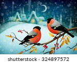 greeting card or poster merry... | Shutterstock . vector #324897572