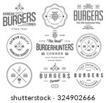 vector fast food badges and... | Shutterstock .eps vector #324902666