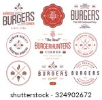 vector fast food badges and... | Shutterstock .eps vector #324902672