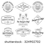 vector fast food badges and... | Shutterstock .eps vector #324902702