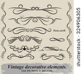 vintage patterns. to decorate...   Shutterstock .eps vector #324906305