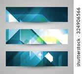 set of banners  technology art... | Shutterstock . vector #324906566