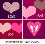 collection funny cards with... | Shutterstock .eps vector #32490697
