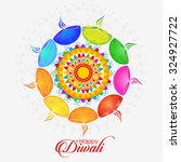 vector illustration or greeting ... | Shutterstock .eps vector #324927722